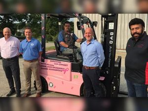 Humtown, Valley Industrial Trucks Team Up for Breast Cancer Awareness