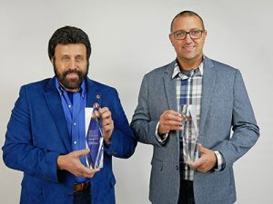 Mark-Lamoncha (L) & Brandon-Lamoncha(R) With The 2020 Manufacturer of the Year Award